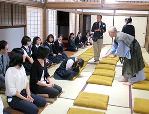 妙心寺での座禅体験