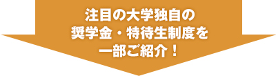 注目の大学独自の奨学金・特待生制度を一部ご紹介!