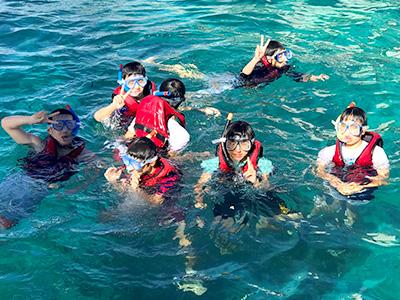 カオハガン島ではシュノーケリングも体験しました。