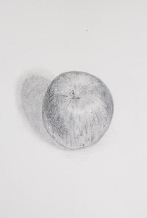 「リンゴ」のデッサン