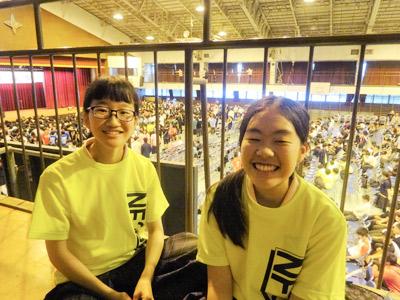 二人とも小学生のころ日藤祭に遊びに来て、学校に憧れるようになったそうです。
