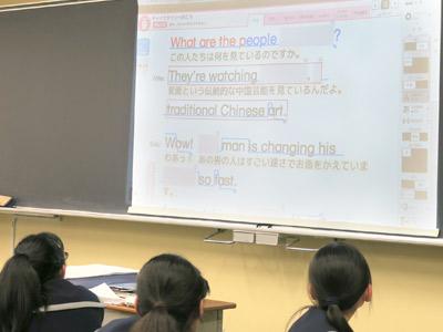 英語の授業写真