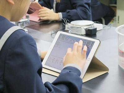 日大中高のICT活用授業の写真