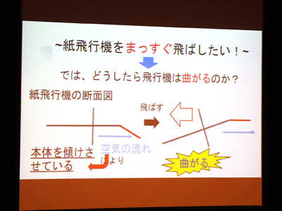 「果てしなく飛ぶ紙飛行機」ゼミの発表のスライド