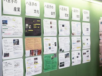 中学1年生のポスター発表。プレゼンテーションの映像もオンライン配信されました