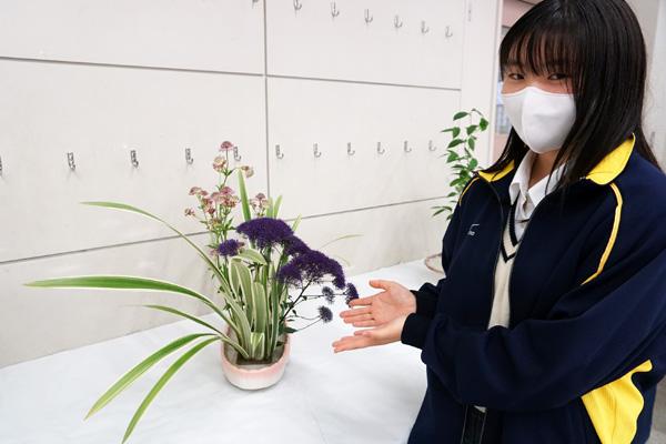 生け花では勉強と異なる想像力が試されます