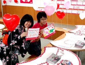 文化祭でのプラン・ジャパンの企画の様子